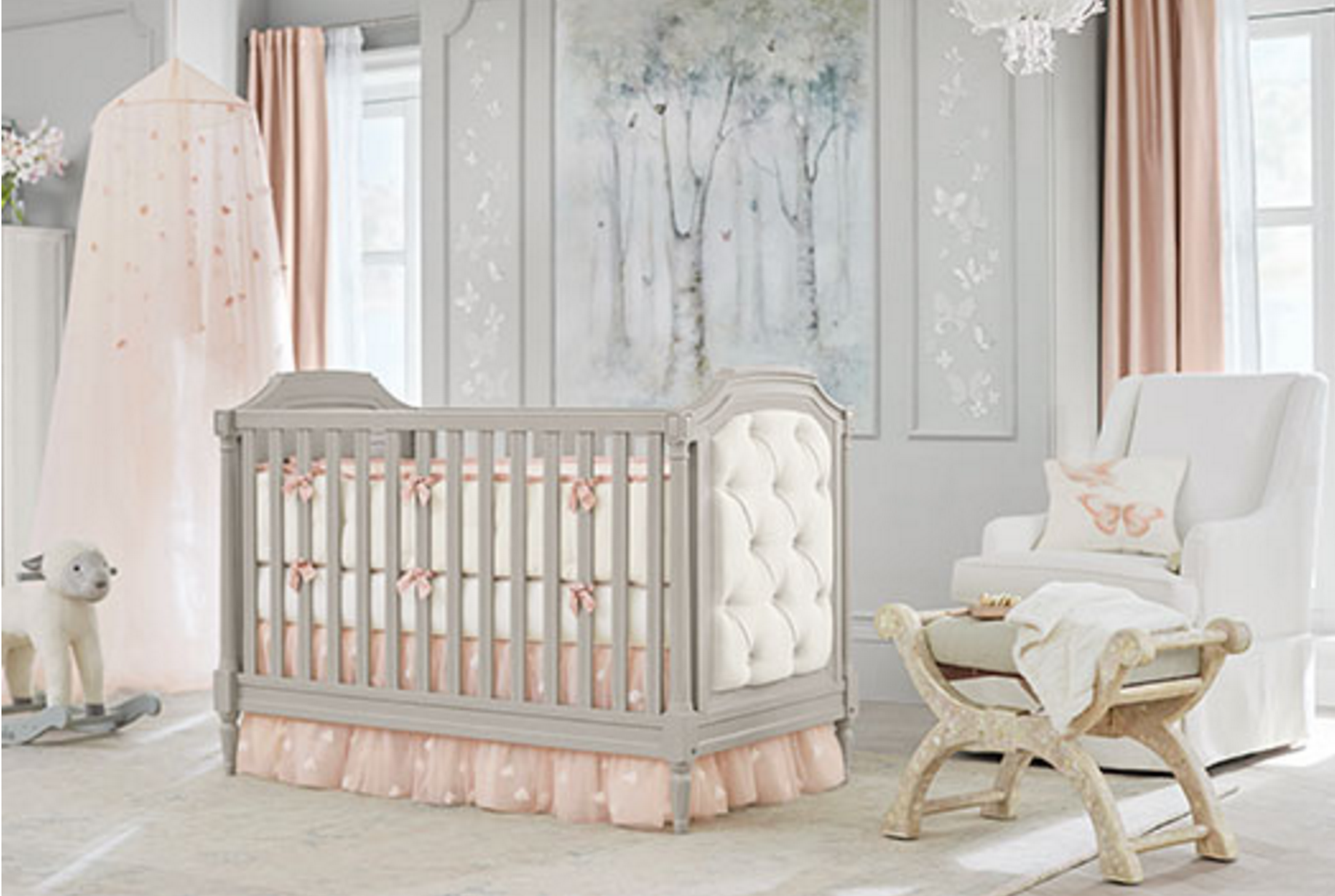 Monique Lhuillier Sateen Ethereal Butterfly Baby Bedding Monique Lhuillier Pottery Barn Kids Pottery Barn Kids Nursery Pottery Barn Baby
