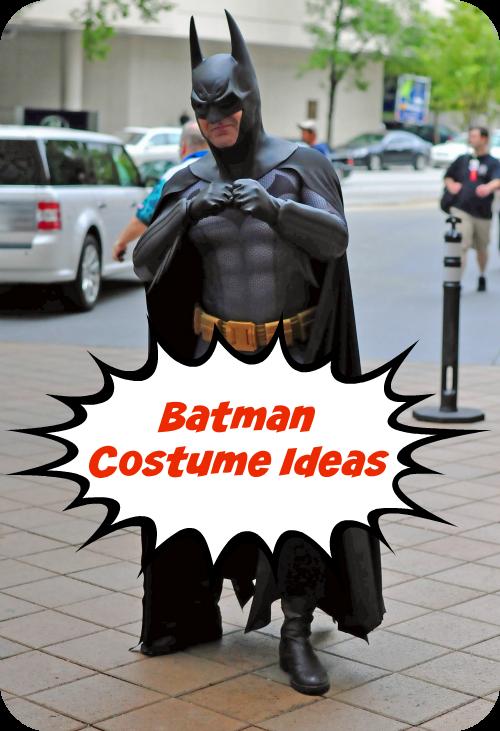 Fan Favorite Batman Costume Ideas For #TeamBatman!  Batman fans love Batman costume ideas and you'll love these creative Batman costume ideas! Batman is one of the most popular superheroes. #Batman #costumes