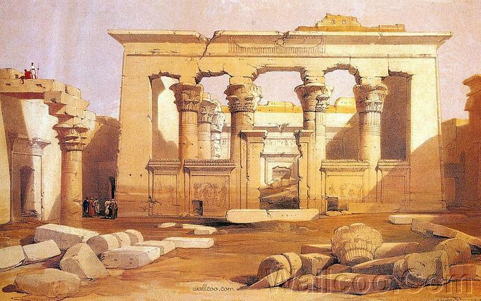 david roberts paintings : the ancient egypt - ancient egyptian