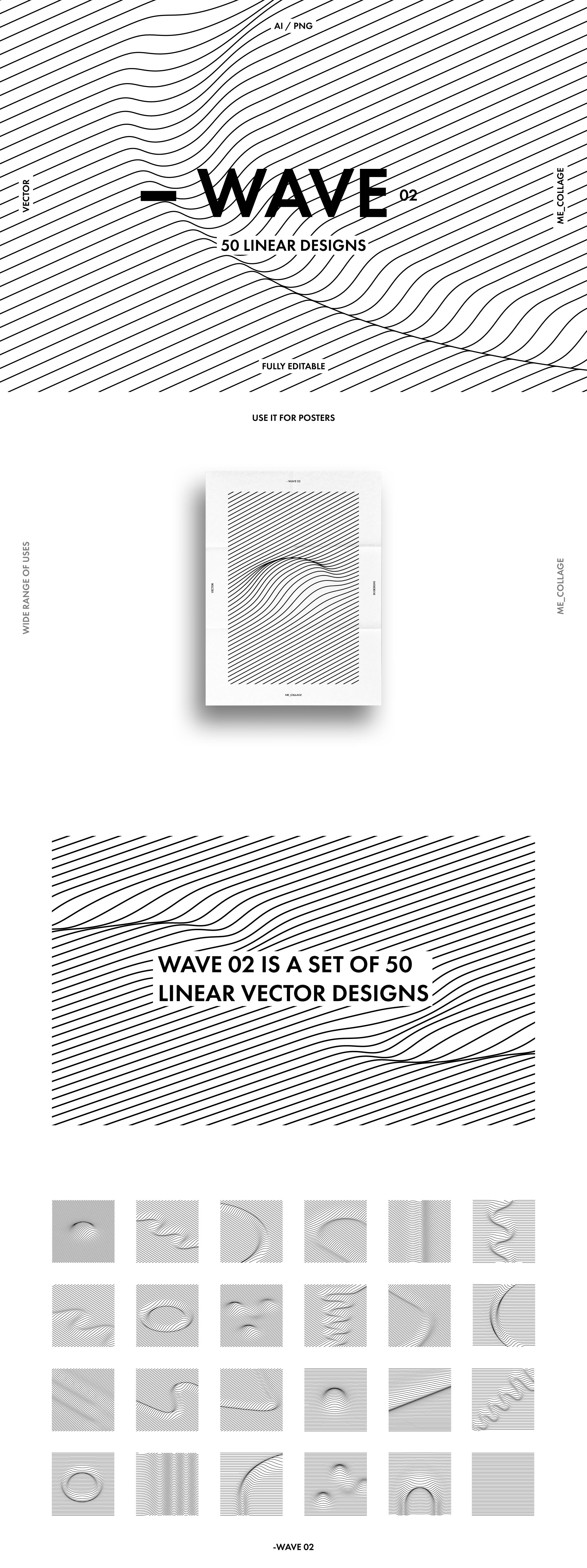 Wave 02 50 Minimal Linear Designs Design Graphic Artist Designer Vector Design
