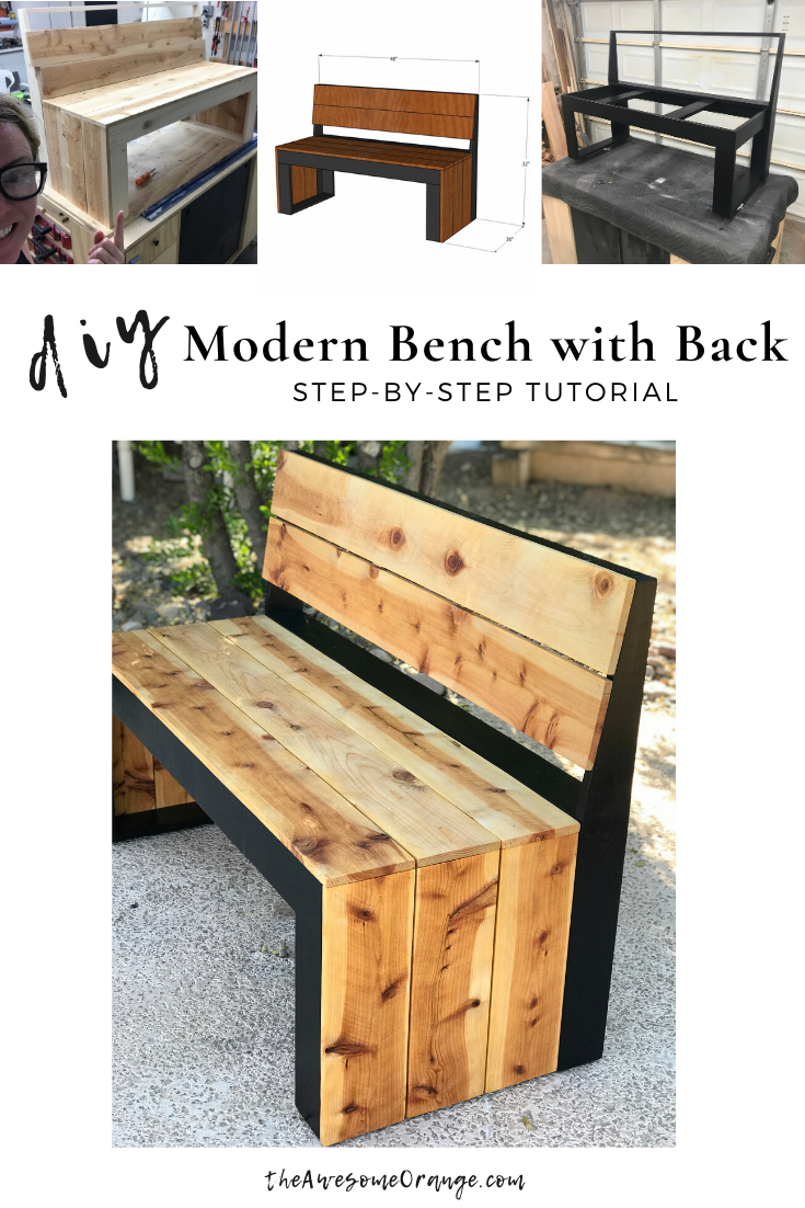 Diy Modern Bench With Back In 2020 Diy Furniture Plans Modern