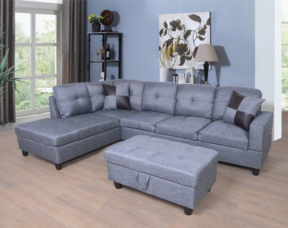 Northstate Sectional With Ottoman In 2020 Sectional Sofa