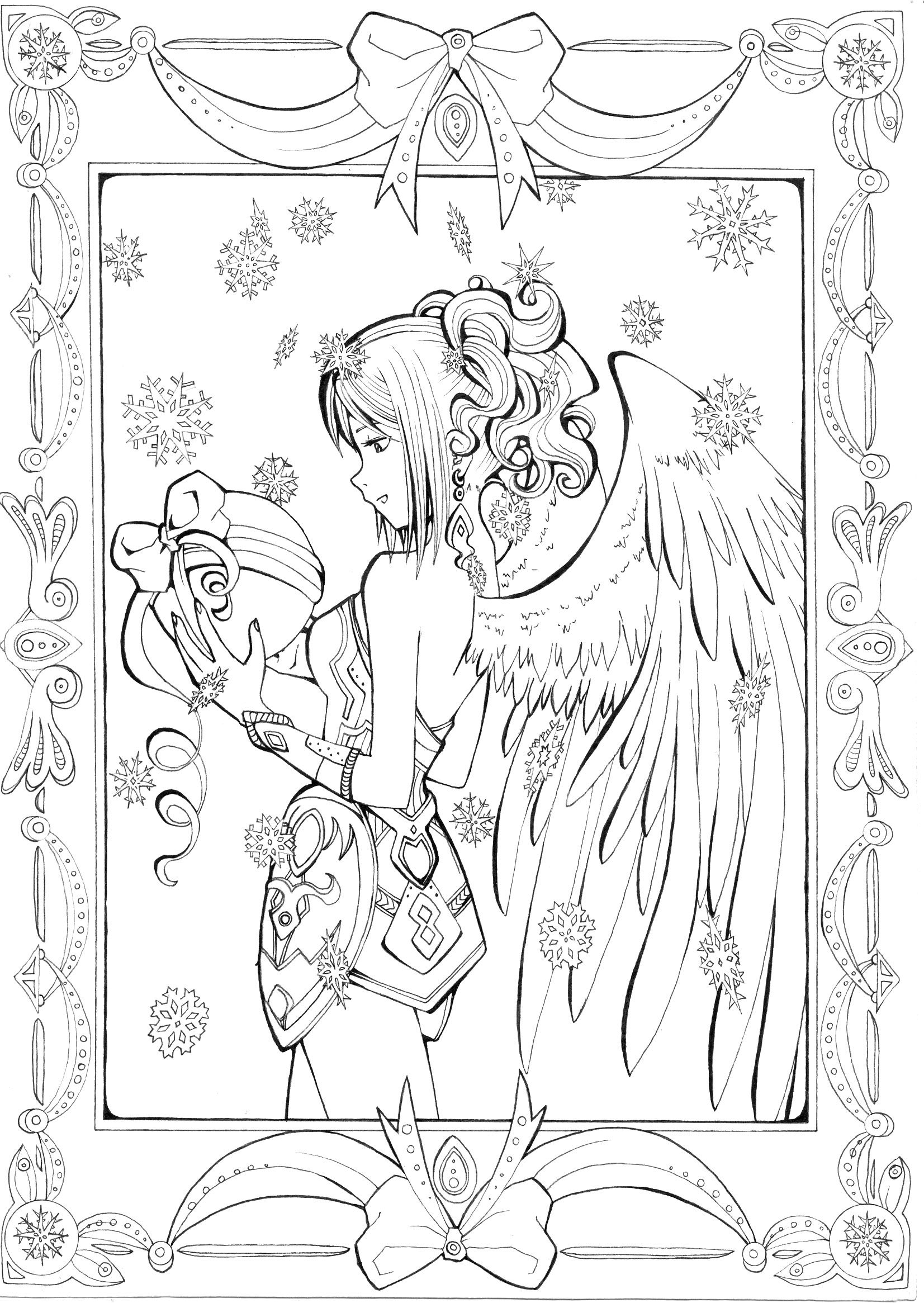 for_me__lineart_by_AgataKa19.jpg (1653×2331) | coloriages 2 ...