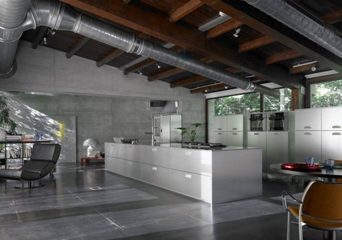 industrial modern interiors bing images exposed duct