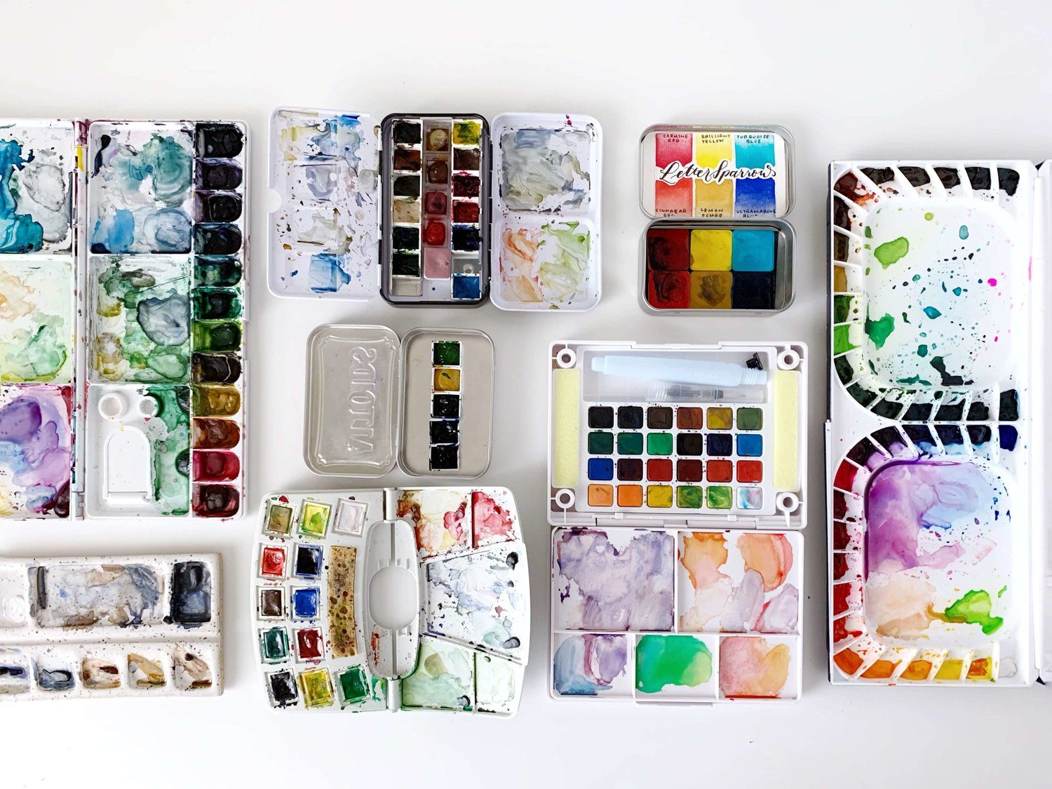 How I Organize My Watercolor Supplies Watercolor Sketch