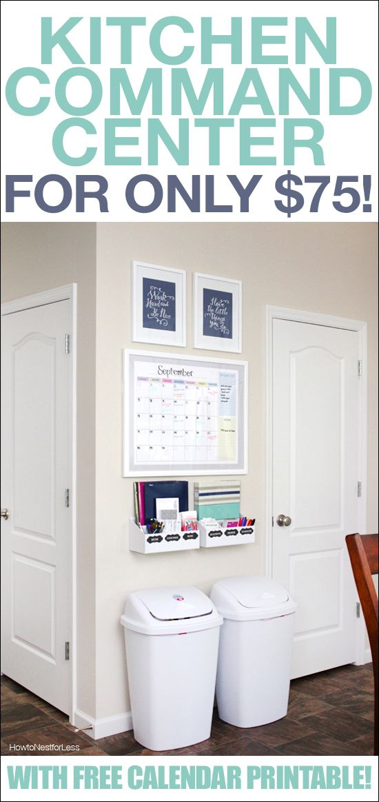 Kitchen Command Center Calendar printable, Kitchens and Menu