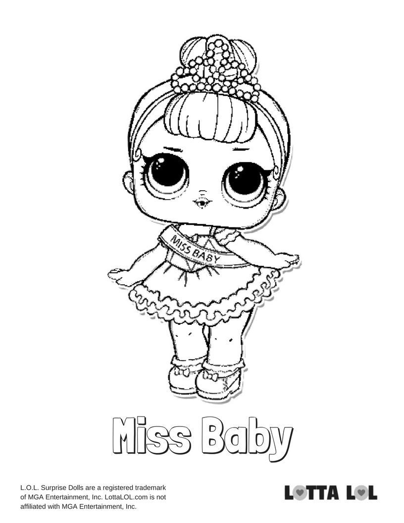 Miss baby coloring page lotta lol