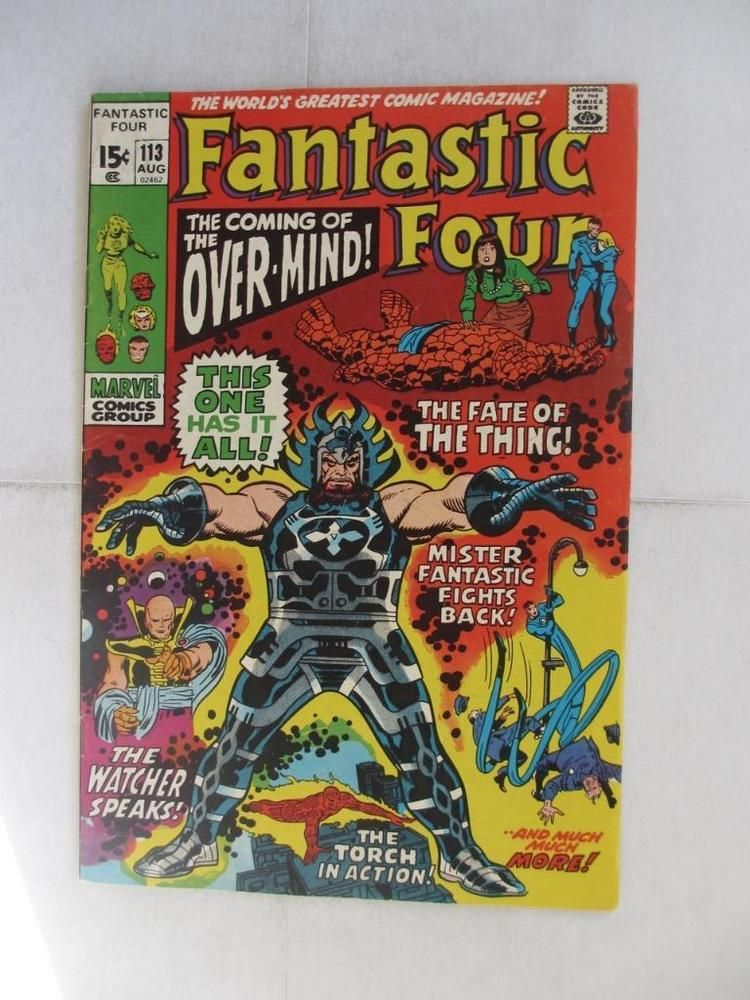 Fantastic Four # 113 - HIGHER GRADE -Mr Fantastic Human Torch Thing MARVEL
