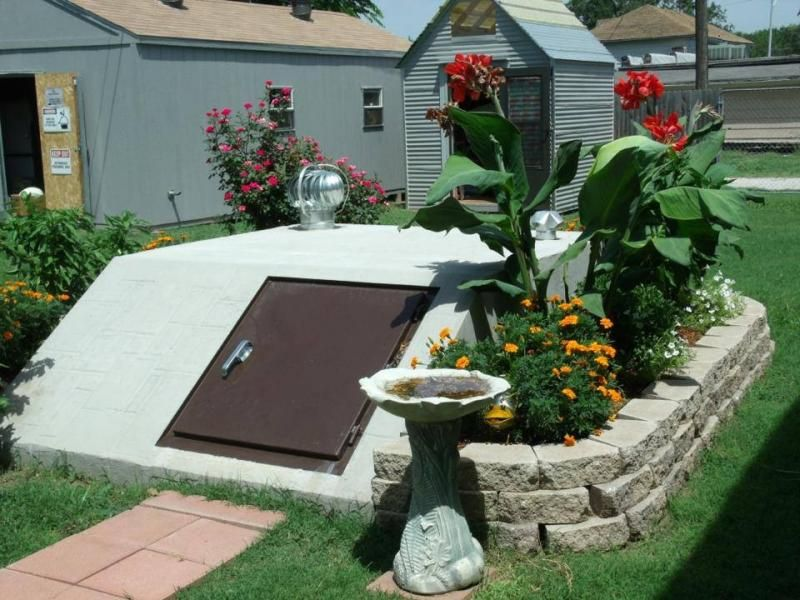 Landscaping around storm shelter landscape pinterest shelter storms and landscaping for Garden safe take root