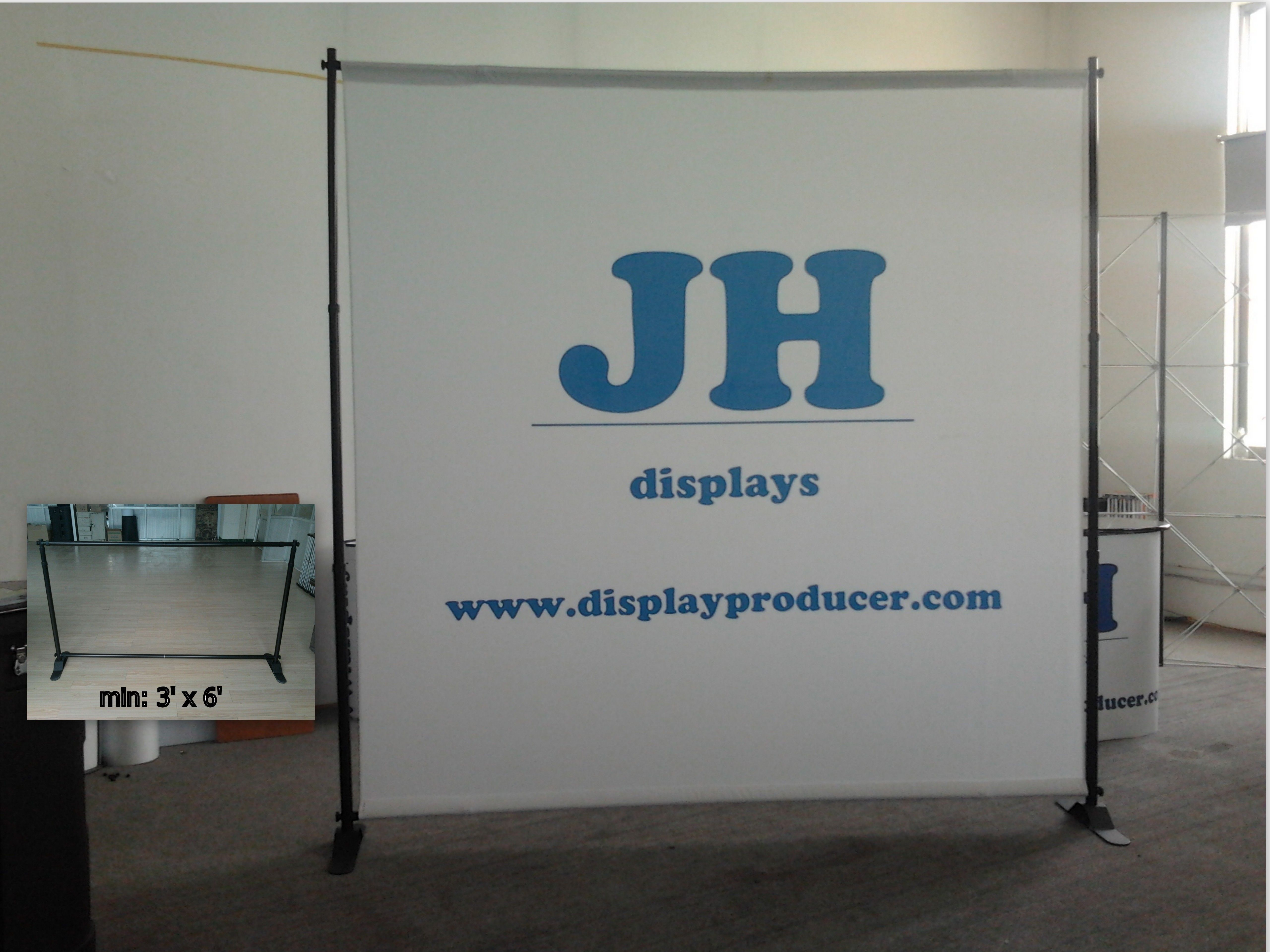 Adjule X Banner Stand Made Of Aluminum Fibergl And Plastic Parts Size Supported 2 Ft 5ft Minimum Up To 3 6ft Maximum