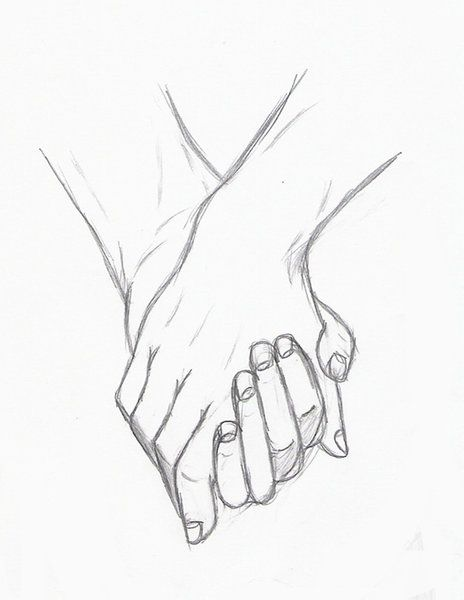 Holding Hands By Silouxa Girly In 2019 Pinterest Drawings Art