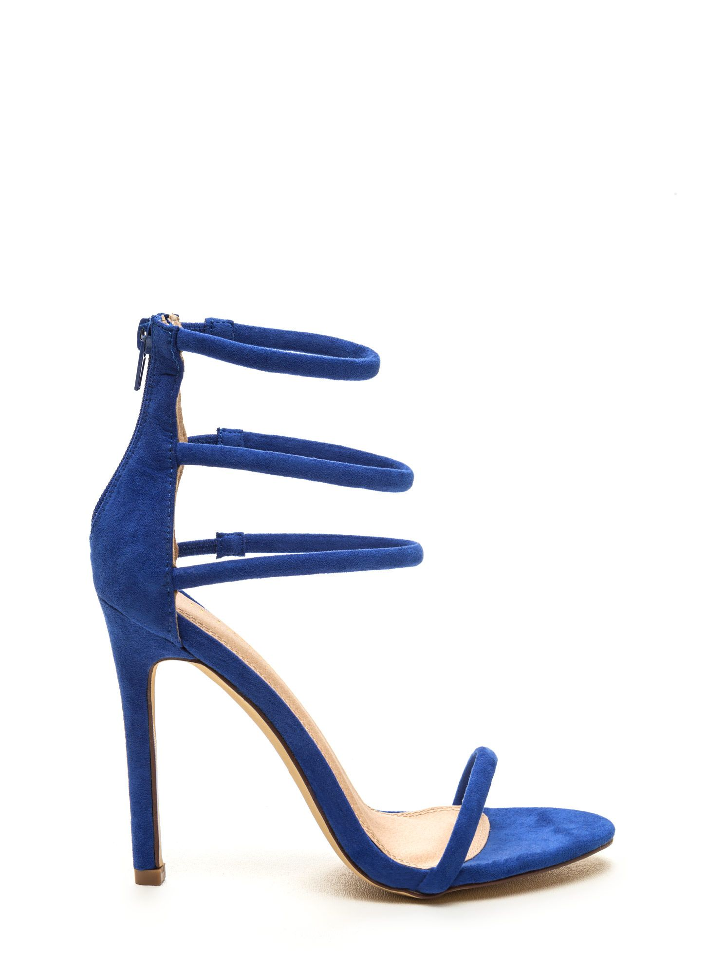 f70a87245d Navy Blue Strappy High Heel Sandals Blue Strappy High Heels, Popular Shoes, Navy  Blue