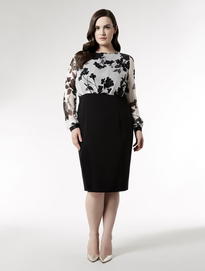 Marina rinaldi plus size delia white knee length dress
