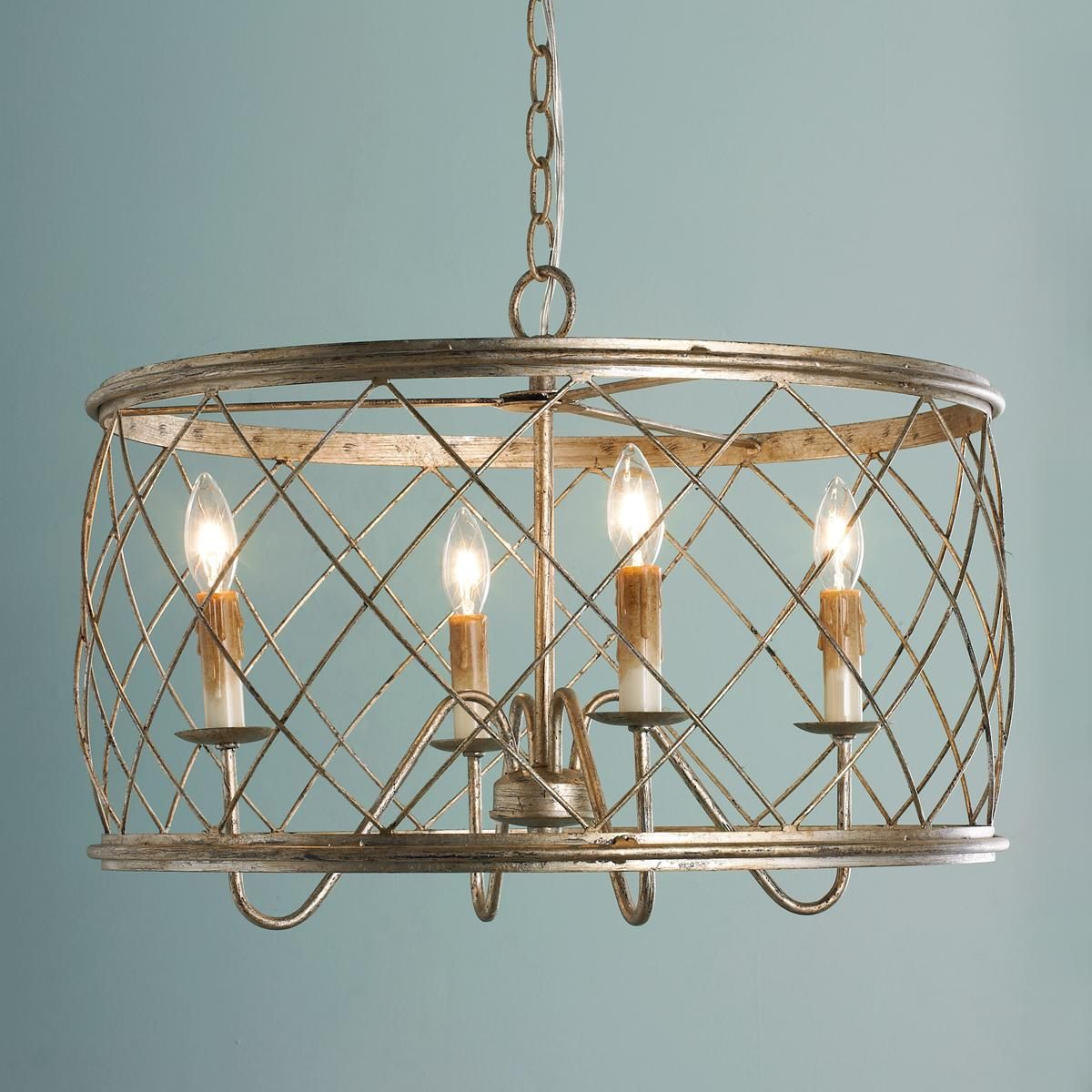 Trellis Cage Drum Chandelier Small Cage Chandelier Ceiling