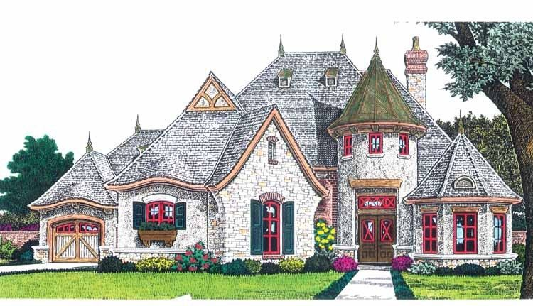 Eplans French Country House Plan   Fairytale Cottage   2847 Square     Eplans French Country House Plan   Fairytale Cottage   2847 Square Feet and  3 Bedrooms from Eplans   House Plan Code HWEPL68932