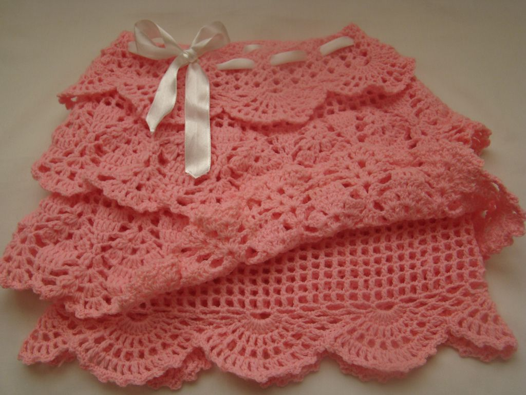 Crochet Pink Skirt | Pinterest