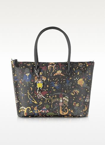 e847253ae5 Magic Circus Chiara Black Zip Tote   cute purse   Embossed fabric ...