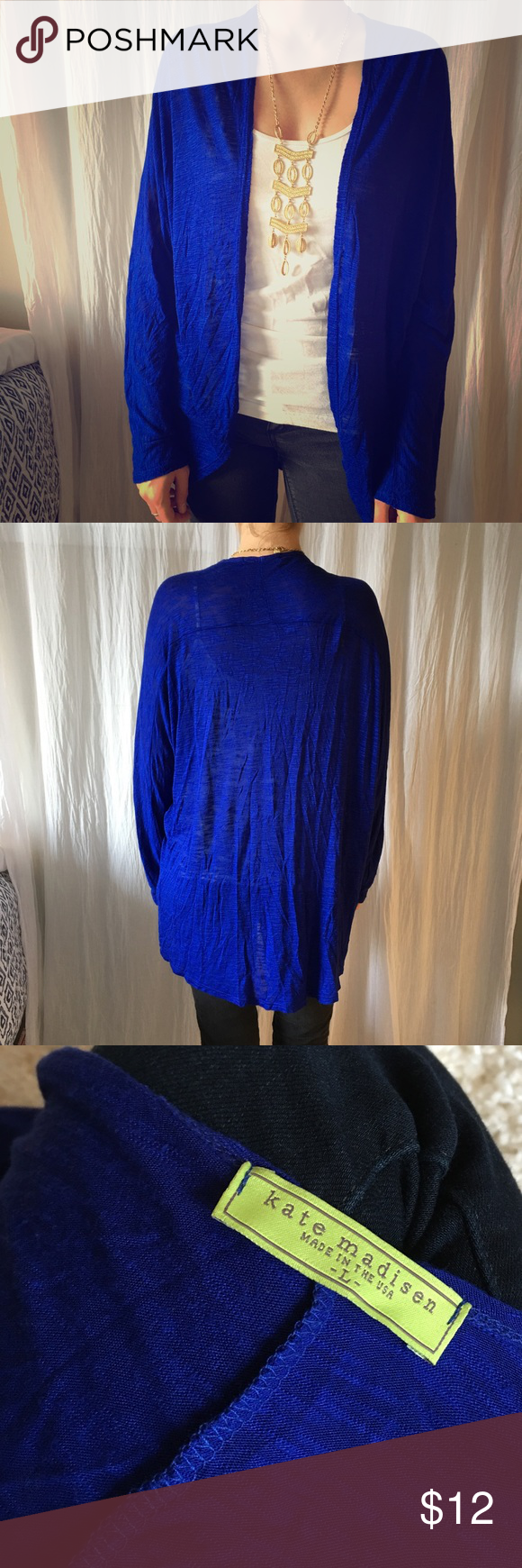 Royal Blue oversized sweater (Lg) | Royal blue sweater, Blue ...