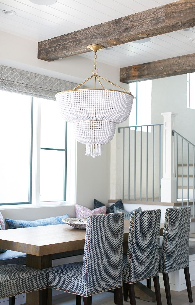 This Stunning White Beaded Chandelier Is Jacqueline Two