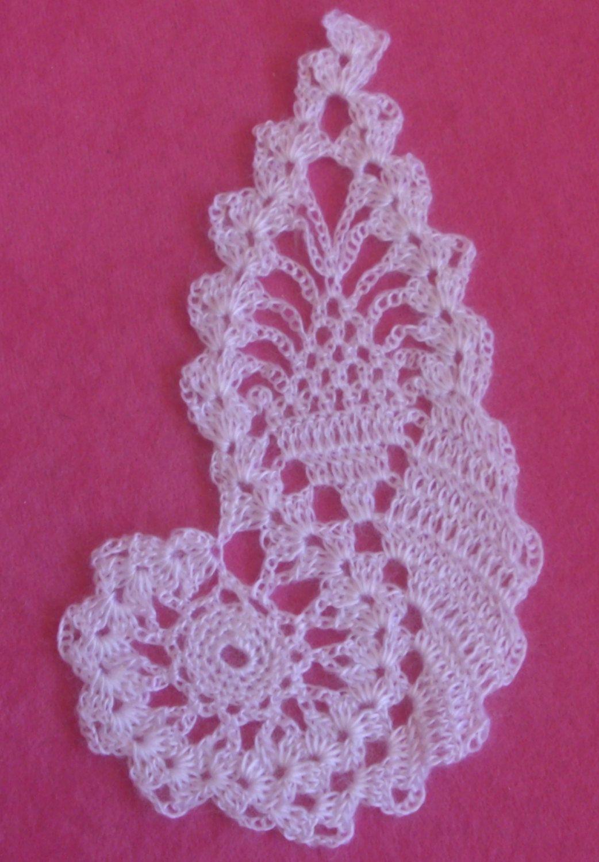 Crocheted white paisley | CROCHET LIBRE | Pinterest | Patrón de ...