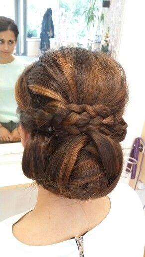 Braid. Hair up. Wedding hair @TrinityHairCo.