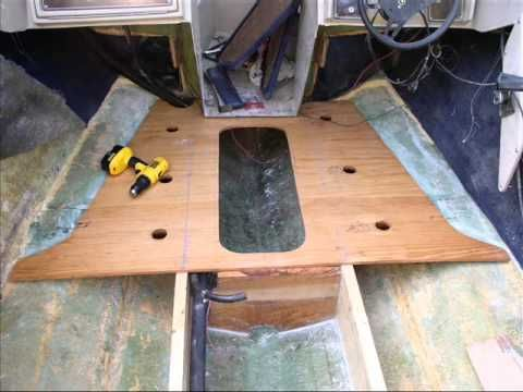 Cheap Fix For A Rotten Boat Floor Part 1 Of 2 Installing
