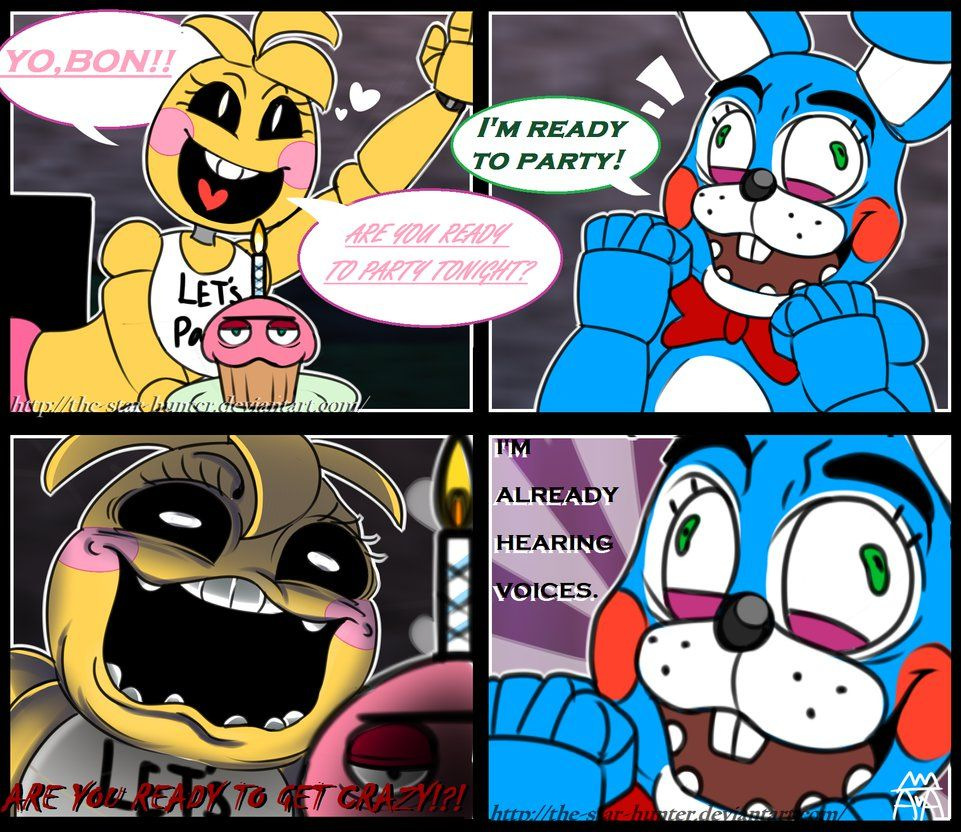 Fnaf Comics En Español fnaf comic: -''let's party!!''-the-star-hunter on