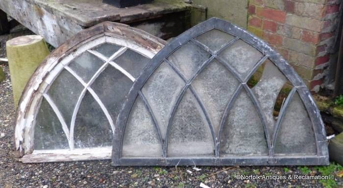 Antique Reclaimed Gothic Arched Window Frames Great Appearance