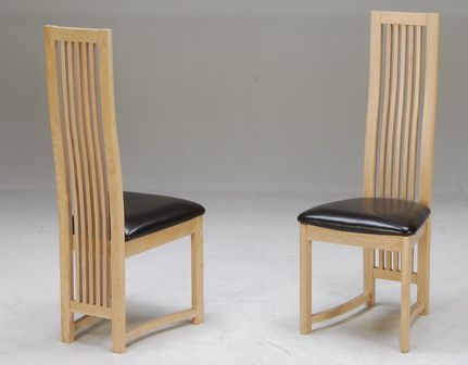 Celine Wooden Highback Chair Sold As A Pair Ebay