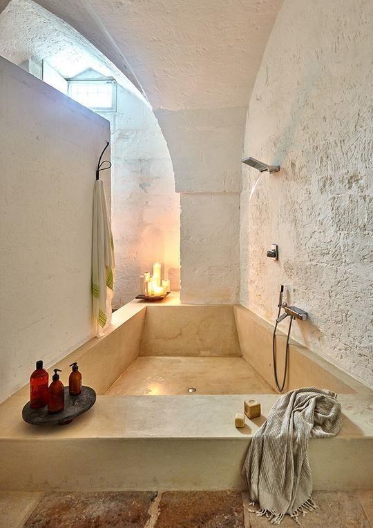 vivir en un antiguo molino: bañera