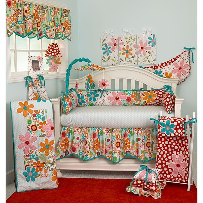 Create A Small Paradise For Your Little One With This Colorful Crib Bedding Set From Cotton Tale Is Made 100 Percent And Features