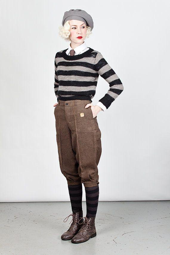 d830f65fcef2 Vintage 1920s Deadstock Flecked Wool Plus Fours   by machinedance More