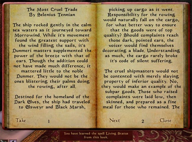A Spell Book from the Morrowind mod Tamriel Rebuilt  | Books