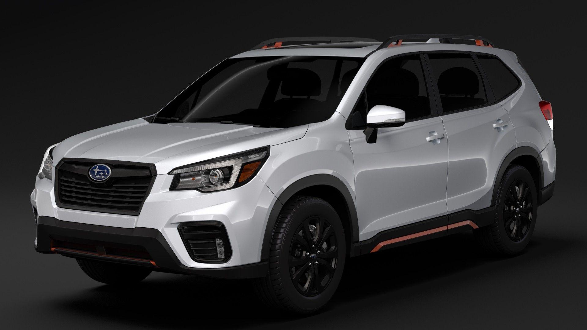 2019 Subaru Forester 3D CGI Model Subaru forester