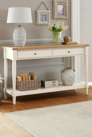 Buy Shaftesbury Painted Console From The Next Uk Online Shop Console Table Living Room Living Room Furniture Chairs Console Table Decorating