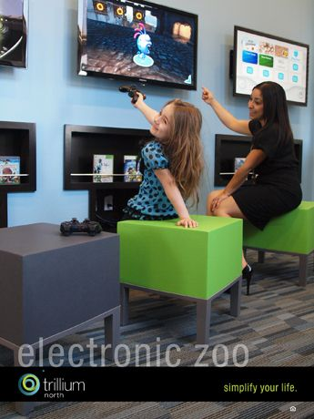 Check out Trillium North's electronic zoo. Residents can spend the afternoon playing games in front of our over-sized flat screen TVs