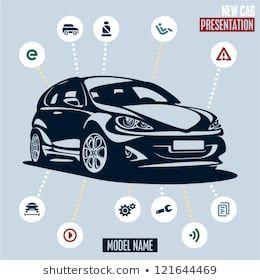 Car Presentation Main Car Icons Set Stock Vector (Royalty Free) 121644469