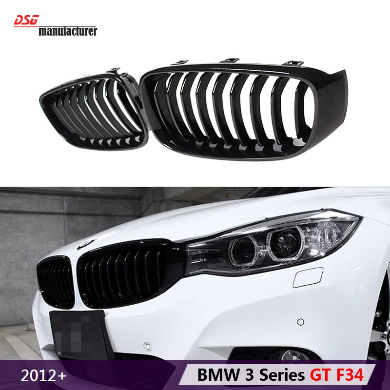 F34 Black Abs Front Bumper Air Grille M3 Car Styling Racing Grill