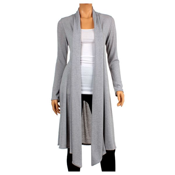 Plus Size Hacci Knee-Length Cardigan - Heather Gray/2X, Women's (73.060 COP) ❤ liked on Polyvore featuring plus size fashion, plus size clothing, plus size tops, plus size cardigans, grey, plus size, plus size cardigan, grey cardigan, plus size long cardigan and long drape cardigan