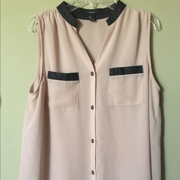 Forever 21 Button Shirt Chiffon Material. Buttoned Down shirt. Has been worn a few times but in great condition. Forever 21 Tops Button Down Shirts