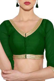 b80d806d50386d Green Silk Brocade Blouse by Tresorhouse