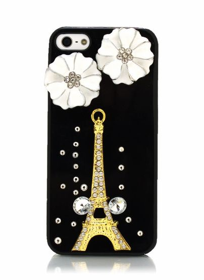 embellished eiffel tower iphone case