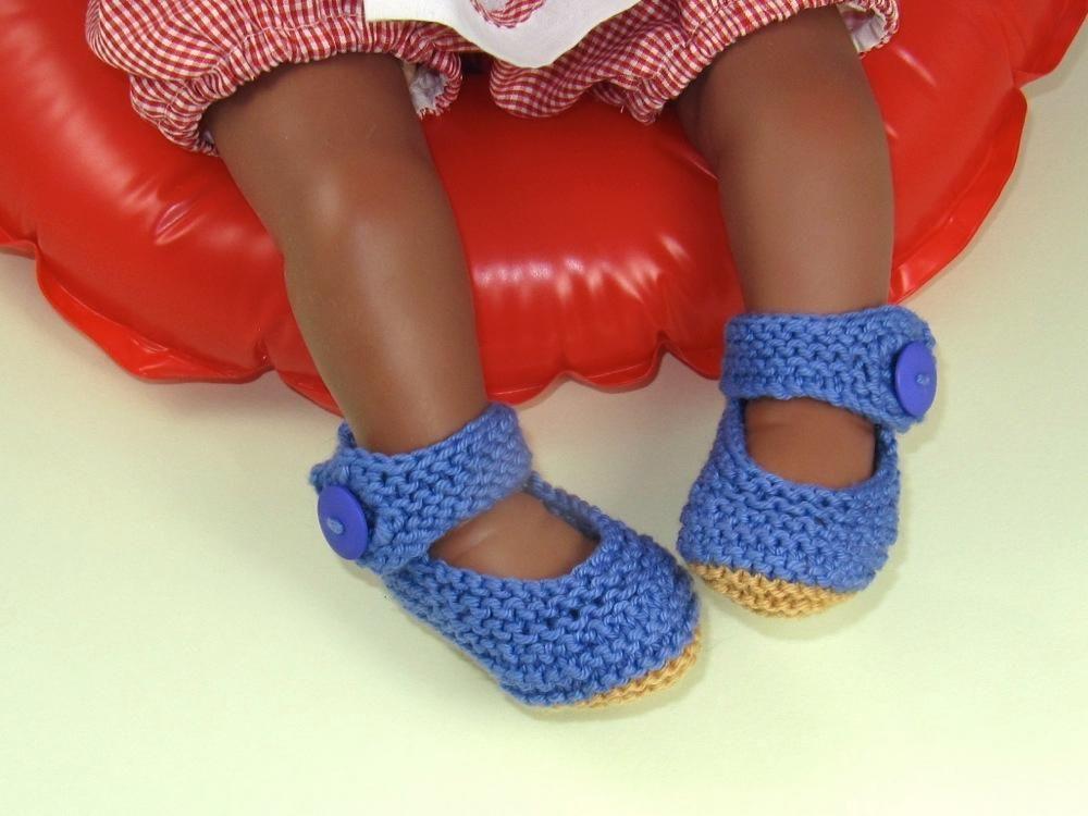 Baby Garter Stitch Ankle Strap Sandals
