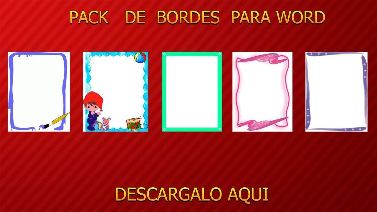 DESCARGAR PACK DE BORDES PARA WORD 2016 | Educación | Pinterest ...