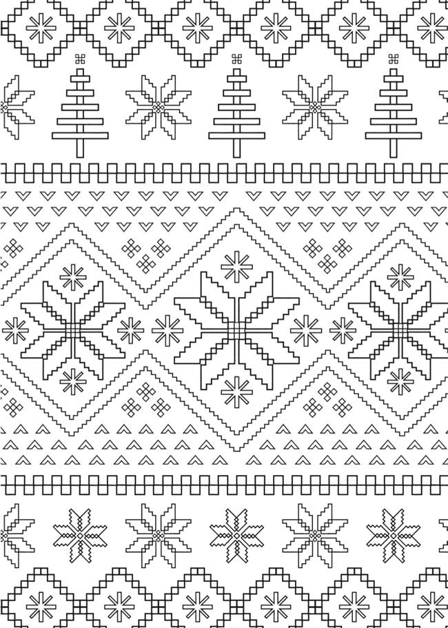 Welcome to Dover Publications | Winter /Christmas Color by Number ...