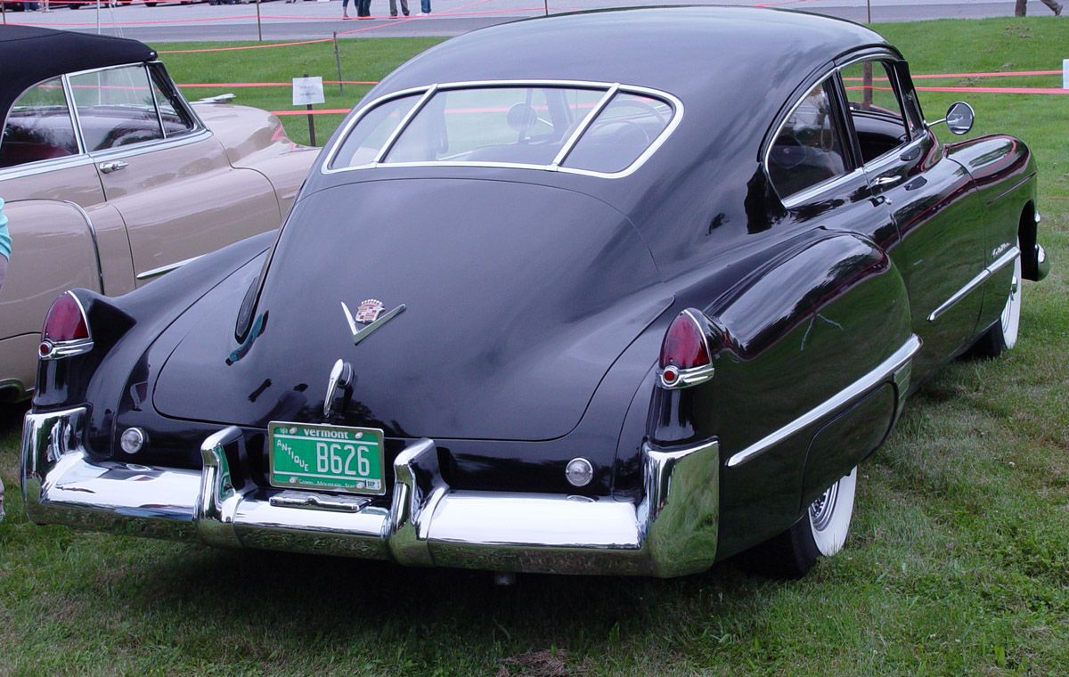 1949 Cadillac Club Coupe Fastback rear - Cadillac Photography - CaddyInfo Cadillac Forum