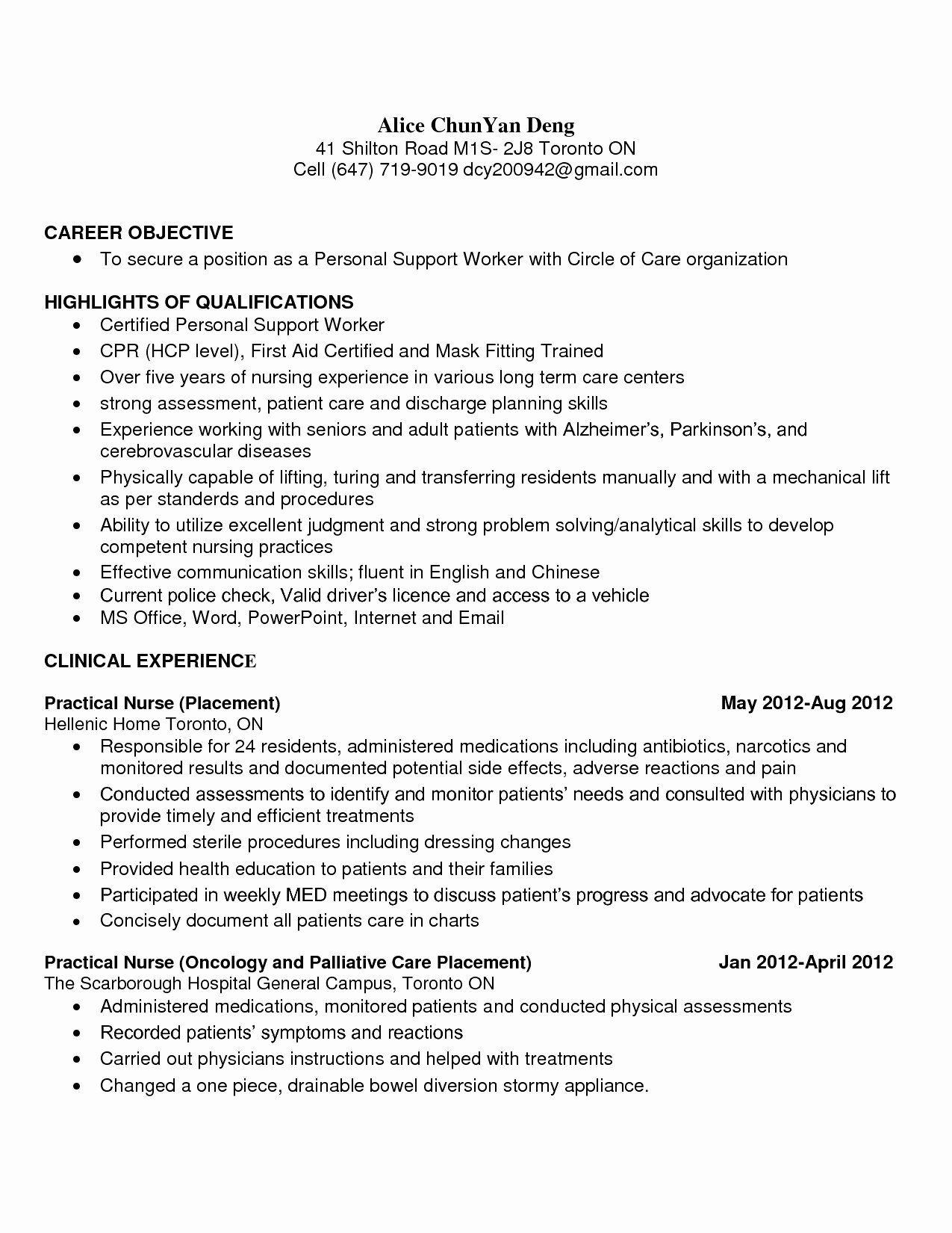 Patient Care assistant Job Description Resume Best Of