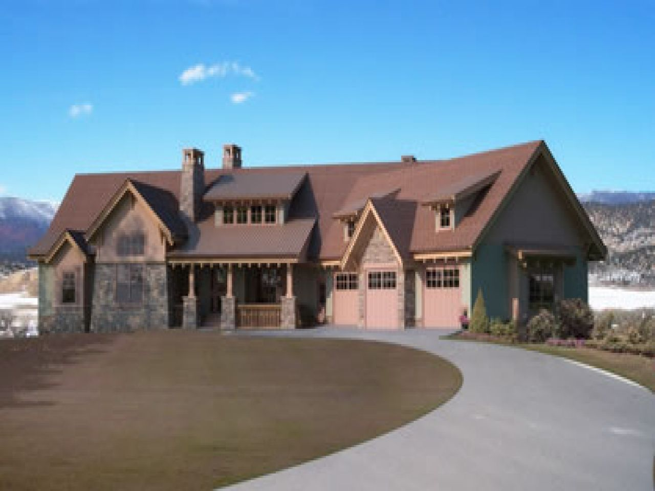 large one story house plan design plans log home homes floor ...