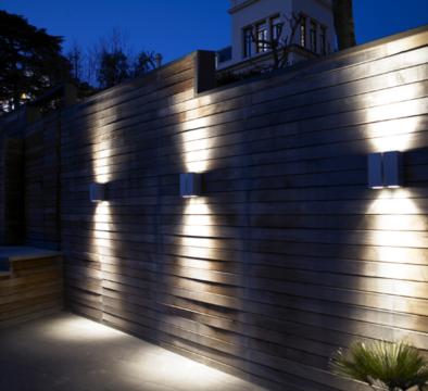 Aplique De Exterior Blok W Diseno De David Abad Para B Lux Exterior House Lights Outdoor Lighting Backyard Lighting