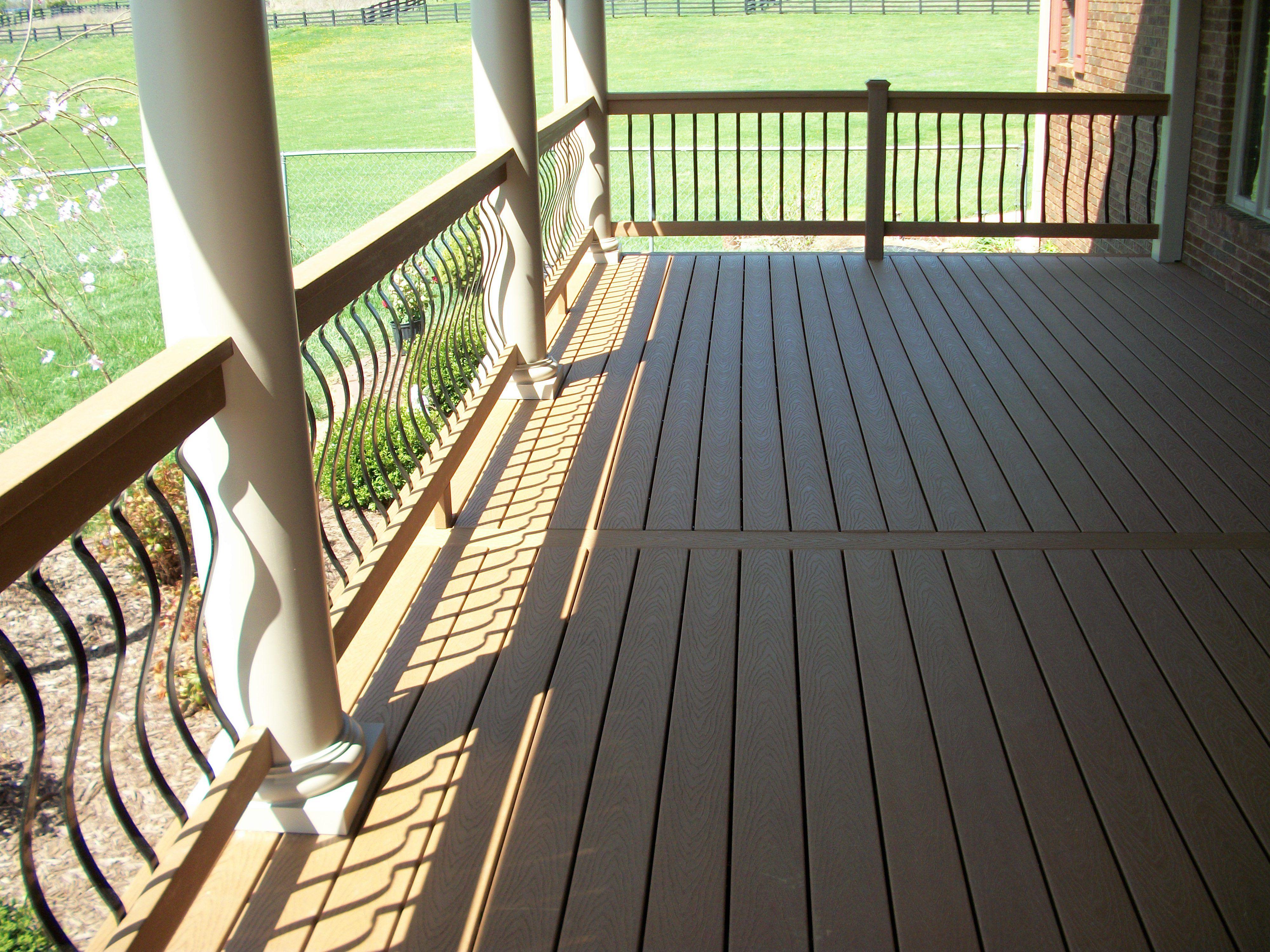 Hidden Fasteners And Round Columns On A Trex Porch Trex Porch